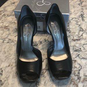 Jessica Simpson Black Western Leather Josette EUC